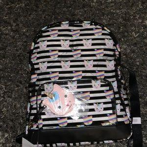 Betsey Johnson Cat Unicorn Backpack